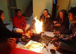 Prayers at Yoga Sadhna India