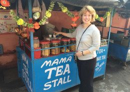 YSI client at a local tea stall in Rishikesh, India