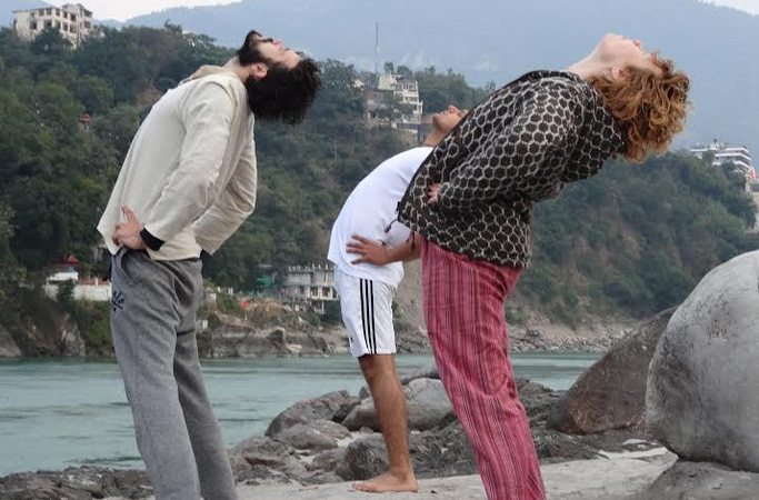 Yoga Asanas on Ganges